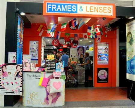 Frames & Lenses optical shop Bugis Junction Singapore.