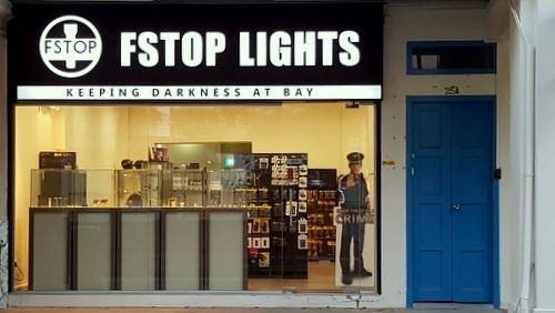 Fstop Lights flashlights shop Kovan Singapore.