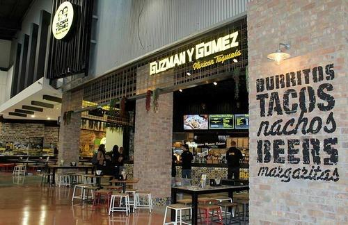 Guzman Y Gomez Mexican restaurant Singapore.