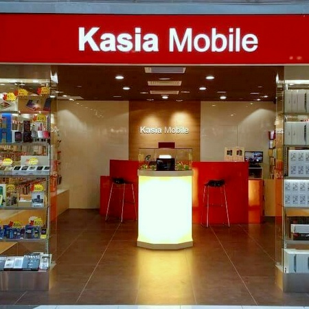 Kasia Mobile shop Suntec City Mall Singapore.