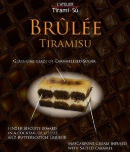 L'Atelier Tiramisu's Brulee Tiramisu cake Singapore.