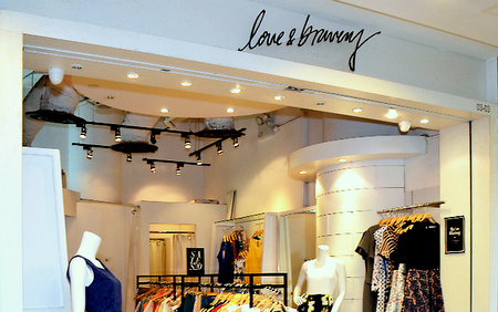 Love & Bravery clothing shop Tampines 1 shopping centre Singapore.