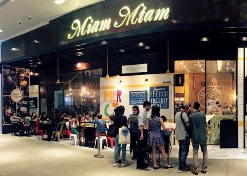 Miam Miam French-Japanese restaurant Westgate Singapore.