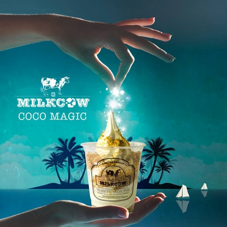 Milkcow Coco Magic soft serve ice cream Singapore.