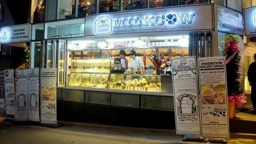 Milkcow ice cream shop Singapore.