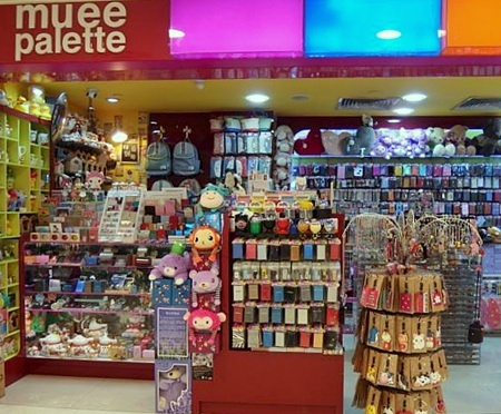 Muee Palette gift store Bugis Junction Singapore.