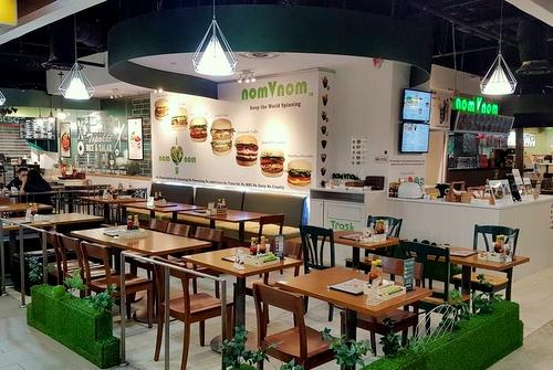 nomVnom vegan fast food restaurant Clarke Quay Central Singapore.