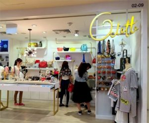 Odette clothing & accessory store Bugis Junction Singapore.
