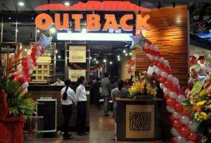 Outback Steakhouse restaurant orchardgateway Singapore.
