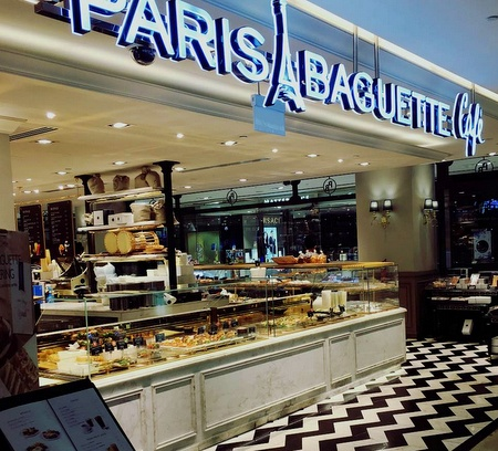 Paris Baguette bakery cafe Singapore.