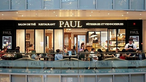 PAUL bakery-cafe restaurant Singapore.
