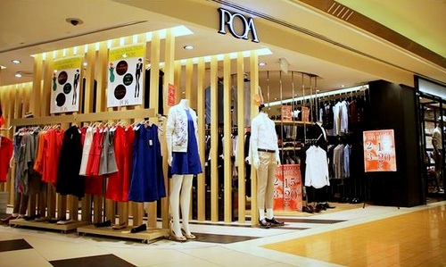 POA clothing store Bugis Junction Singapore.