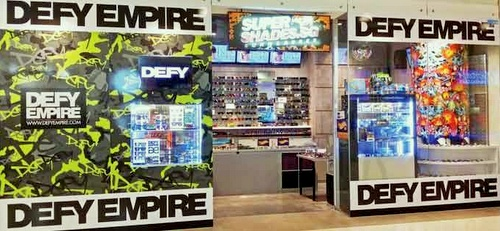 Supershades sunglasses & pomade shop Marina Square Singapore.