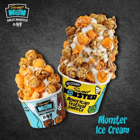 Sweet Monster soft serve popcorn ice cream Singapore.