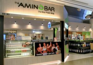 The Amino Bar supplement shop Velocity Novena Square Singapore.