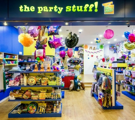 The Party Stuff! store at Clarke Quay Central Singapore.