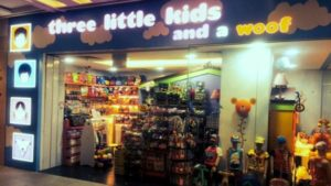 Three Little Kids and a Woof store Singapore.