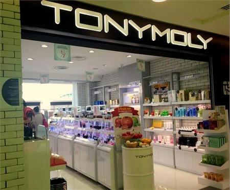 TONYMOLY cosmetics shop Bugis Junction Singapore.