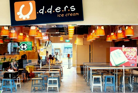 Udders Ice Cream cafe Novena Singapore.