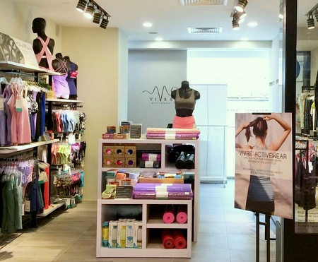 Vivre Activewear clothing shop Bugis Junction Singapore.