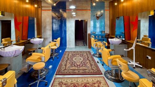We Need A Hero barbershop interiors Singapore.