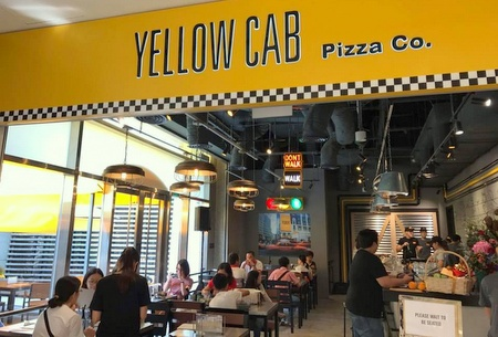 Yellow Cab Pizza Co. restaurant CityLink Mall Singapore.