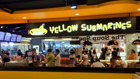 Yellow Submarines fast food restaurant Bugis Junction Singapore.