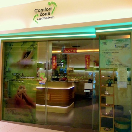 Comfort Zone reflexology & massage salon Square 2 Singapore.