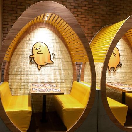 Gudetama Café in Singapore.