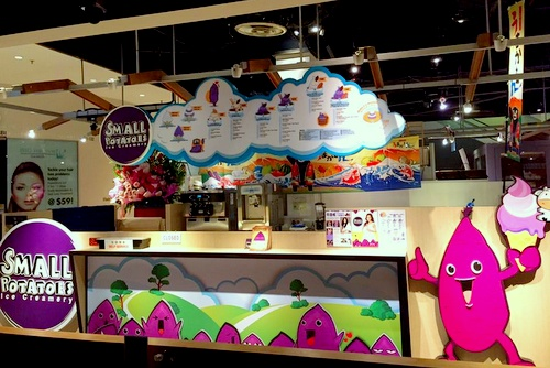 Small Potatoes Ice Creamery shop Singapore.