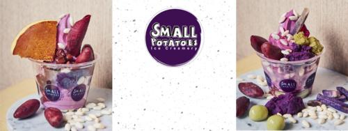 Small Potatoes Ice Creamery Japanese Purple Yam Soft Serve Ice Cream Singapore.
