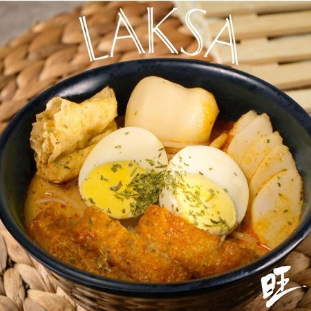 Wang Café Laksa meal Singapore.