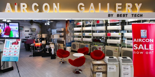 Aircon Gallery by Best Tech The Furniture Mall Singapore.