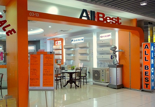 All Best air conditioner shop IMM Singapore.