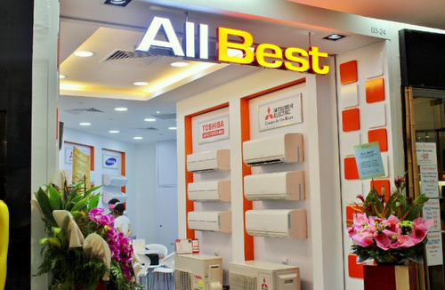 All Best air conditioner store Century Square Singapore.
