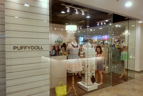 PuffyDoll Korean clothing store Square 2 Singapore.