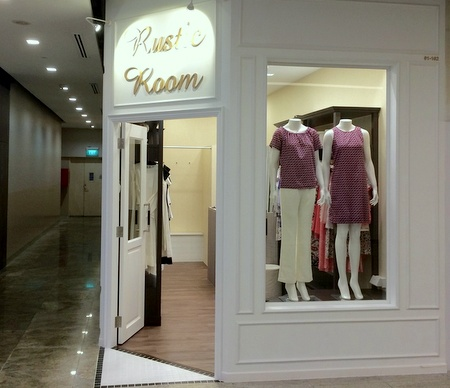 Rustic Room clothing shop Square 2 Singapore.