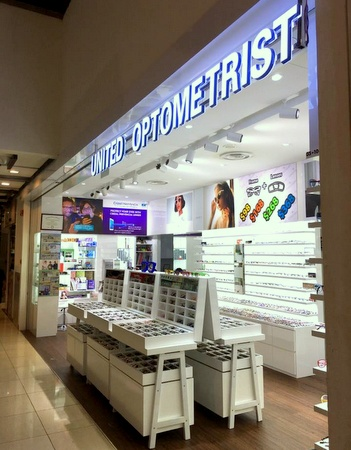United Optometrist optical store Novena Square 2 Singapore.