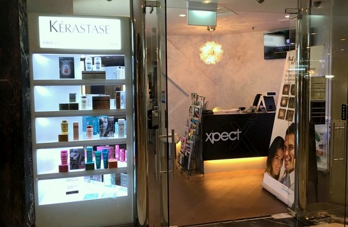 X'pect hair salon Singapore.