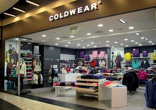 Coldwear clothing shop Singapore.