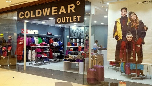 Coldwear outlet store IMM Singapore.