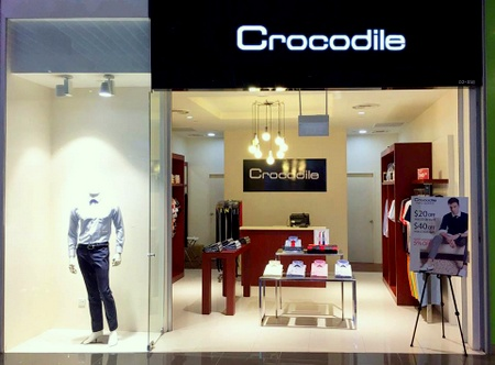 Crocodile clothing shop Suntec City Mall Singapore.
