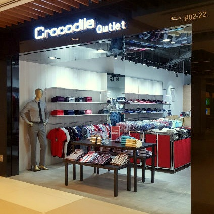 Crocodile outlet store IMM Building Singapore.