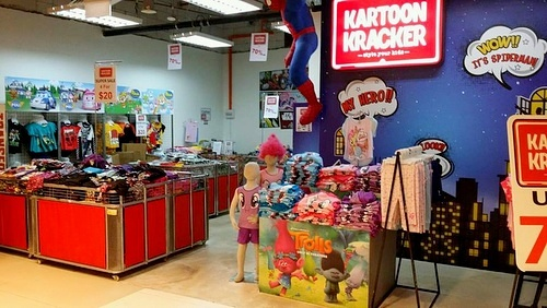 Kartoon Kracker children's clothing store IMM Singapore.
