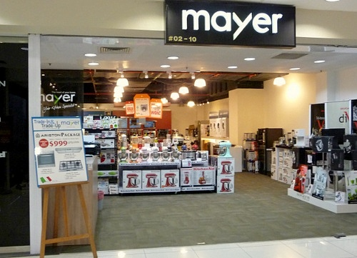 Mayer kitchen appliance store IMM Singapore.