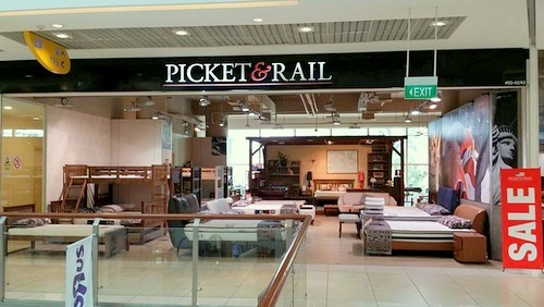 Picket&Rail furniture store City Square Mall Singapore.