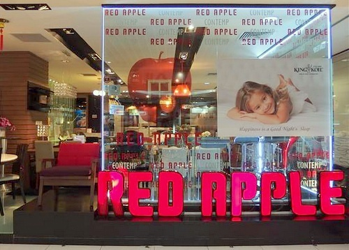 Red Apple furniture store IMM Singapore.
