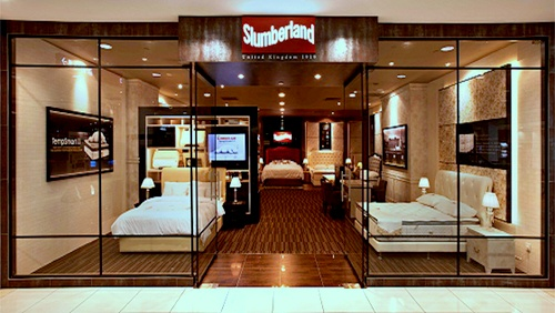 Slumberland mattress shop IMM Singapore.