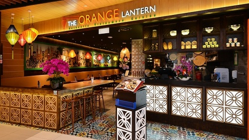 The Orange Lantern Vietnamese restaurant IMM Singapore.
