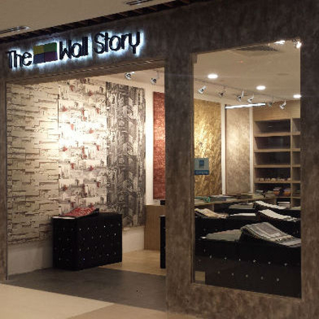 The Wall Story wallpaper store IMM Singapore.